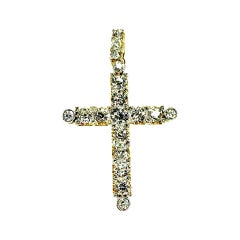 Gemolithos Late Victorian Gold and Platinum Cross Pendant