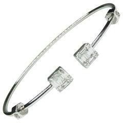Gemolithos Modern Gold 18 Karat and Diamond Bracelet for Every Day