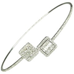Gemolithos Modern White Gold 18 Karat and Diamond Bracelet for Every Day