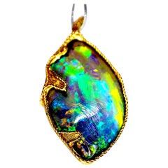 Gemolithos, Opal, Gold Pendant, circa 1970s