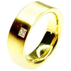Gemolithos Princess Cut Diamond Ring, Est. 0.06 Carat, 18 Karat Gold