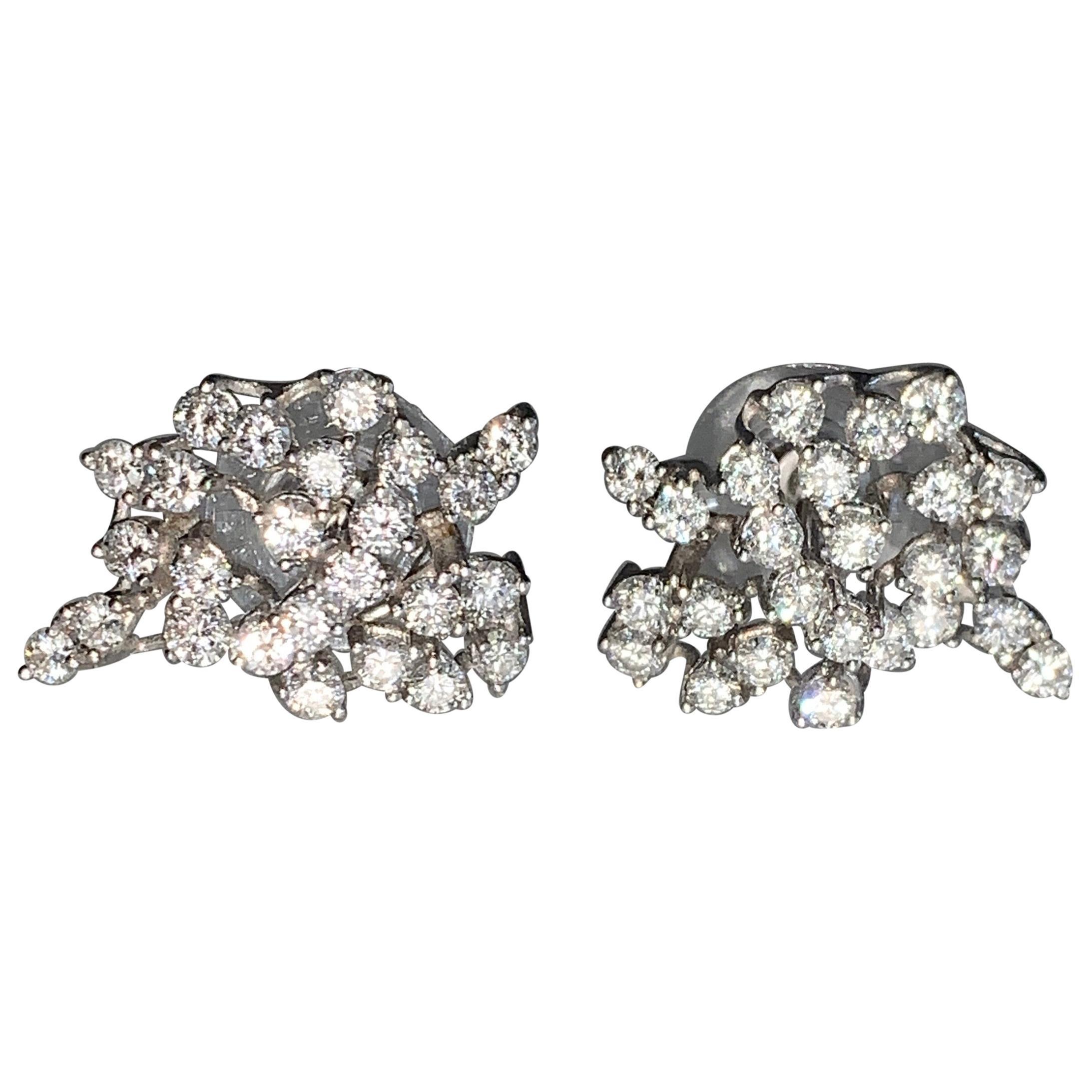 Gemolithos, Vintage Diamond Earrings, 1960s