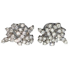 Gemolithos, Vintage Diamond Earrings, 1960s