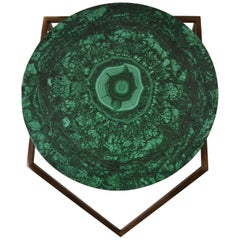 'Gems in the Air' Round Malachite Gemstone Topped Centre or Coffee Table