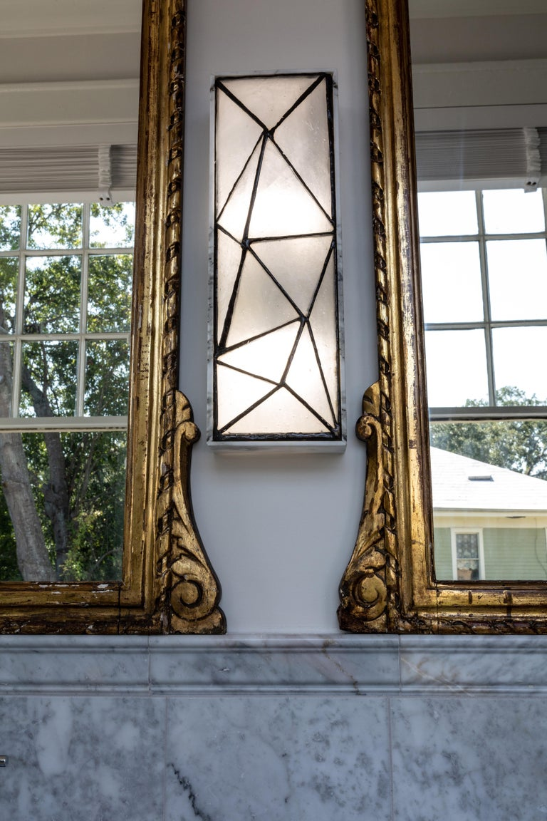 Gem_Stone, Contemporary Wall Sconce in Glass and Carrera Marble by Kalin Asenov For Sale 1