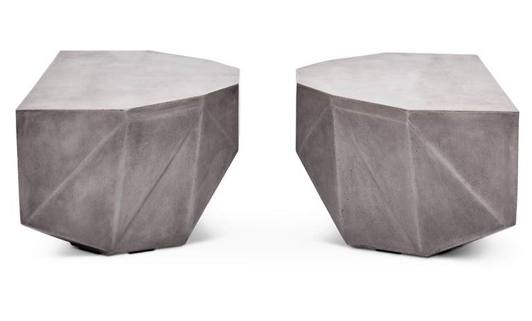 Contemporary Gemstone Indoor/Outdoor Center Table, Dark Grey For Sale