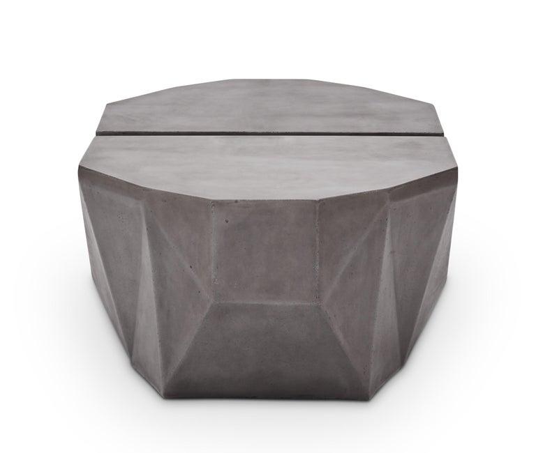 Gemstone Indoor/Outdoor Center Table, Dark Grey For Sale 1