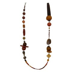 Gemstone Statement Objet D' Art Necklace by Jane Magon Collections in Silver