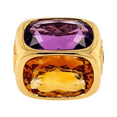 Gemstone Yellow Gold Cocktail Ring by Marina B