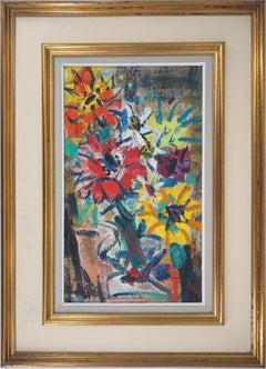 Colorful Flowers - Original Handsigned Oil Painting