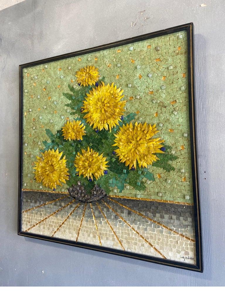 Mid-Century Modern Genaro Alvarez Wall Mosaic For Sale