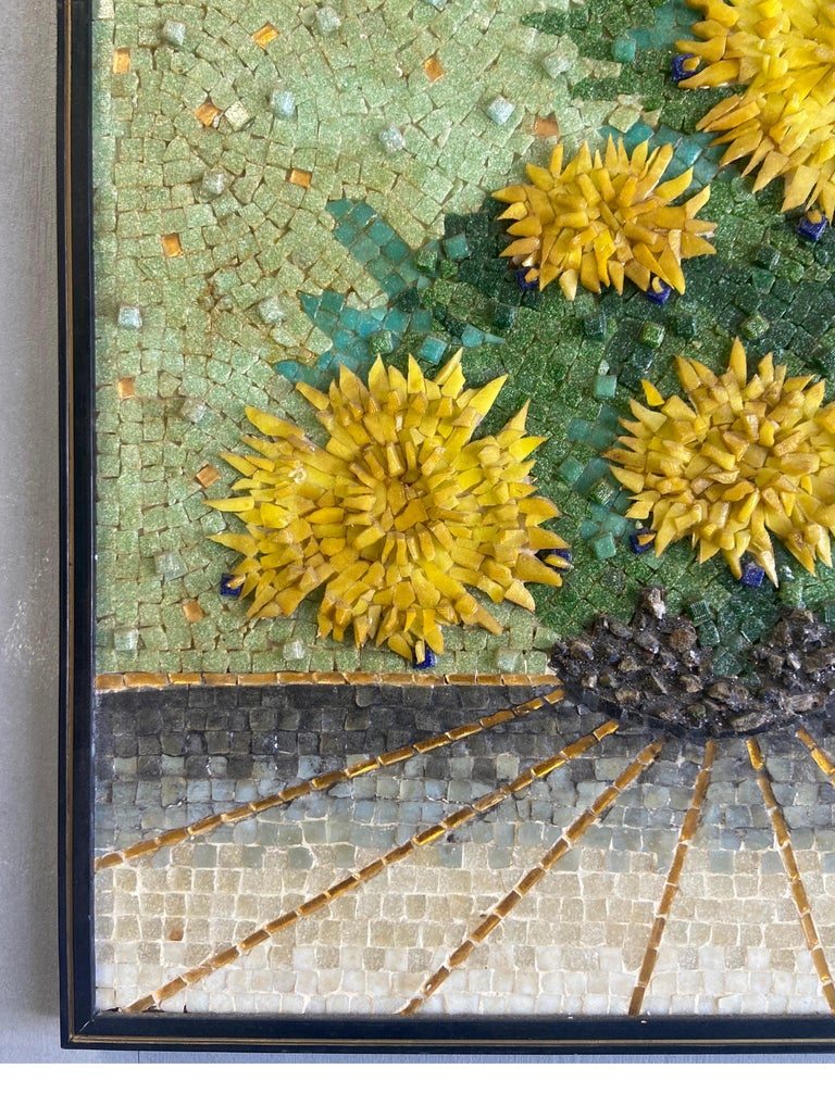 Genaro Alvarez Wall Mosaic In Good Condition For Sale In BROOKLYN, NY