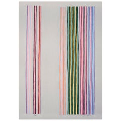 "Gene Davis Color Field Modern Abstract Print ""Royal Curtain"", 1980"