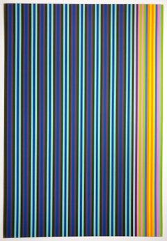 Jack in the Box Gene Davis color field 1960s multicolor abstract stripe print