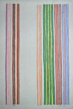 Royal Curtain, 1980 Limited Edition Silkscreen, Gene Davis
