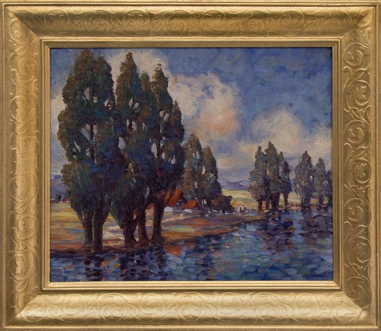 Gene Kloss Landscape Painting - California Ranch
