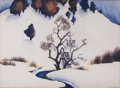 Untitled (Snowy Mountain and Stream)