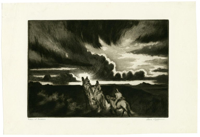 Riders at Sundown - Print by Gene Kloss