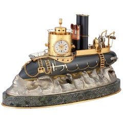 General Artigas Gunboat Industrial Clock