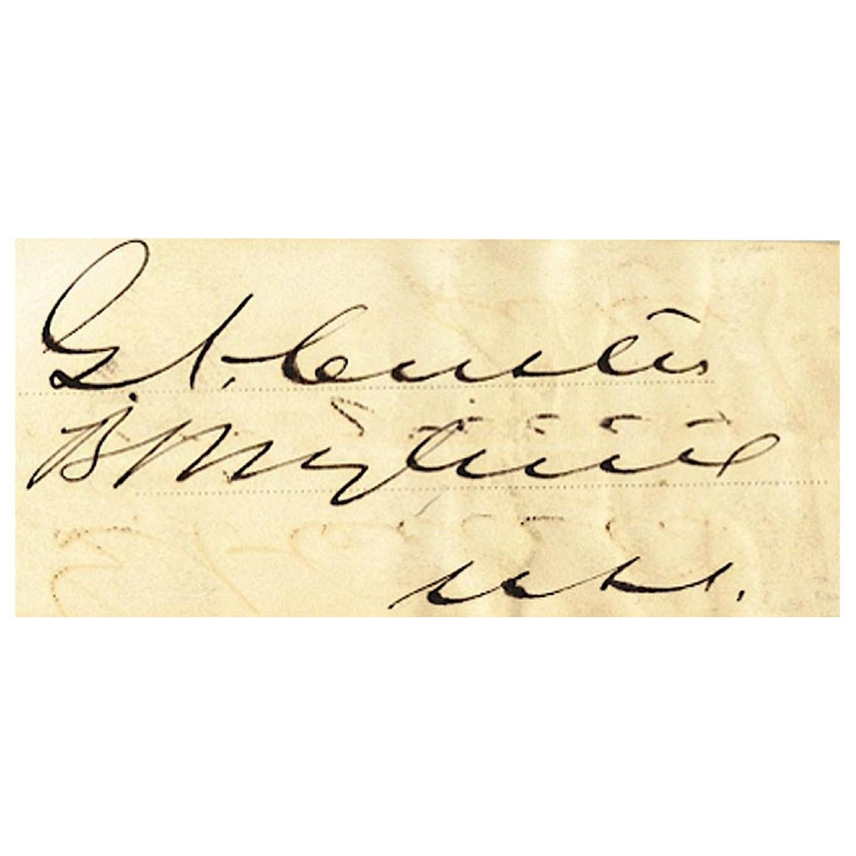 General George Custer Antique 19th Century Autograph