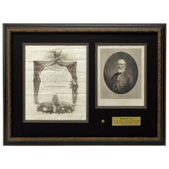 General Robert E. Lee Signed West Point Diploma, Dated June 17, 1853