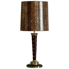 Genet & Michon Large French Art Deco Table Lamp, 1930