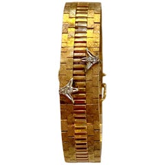 Geneve 14 Karat and Diamond Cover Wrist Watch