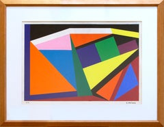 """Composition"" by Geneviéve Claisse, Gouache, 1959"