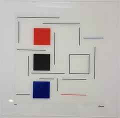Untitled (White, Red, Blue. Black)