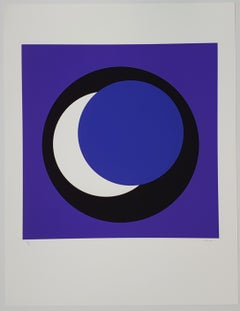 Blue and White Circle (Cercle bleu et blanc)