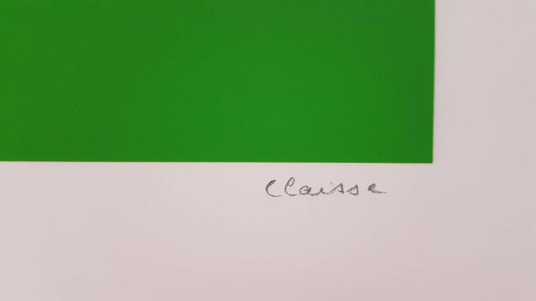 Dark Green Circle (Cercle vert foncé) - Abstract Print by Geneviève Claisse