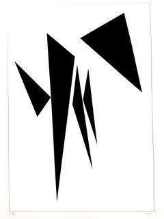 Geneviève Claisse - Minimalist Composition - Original Signed Lithograph