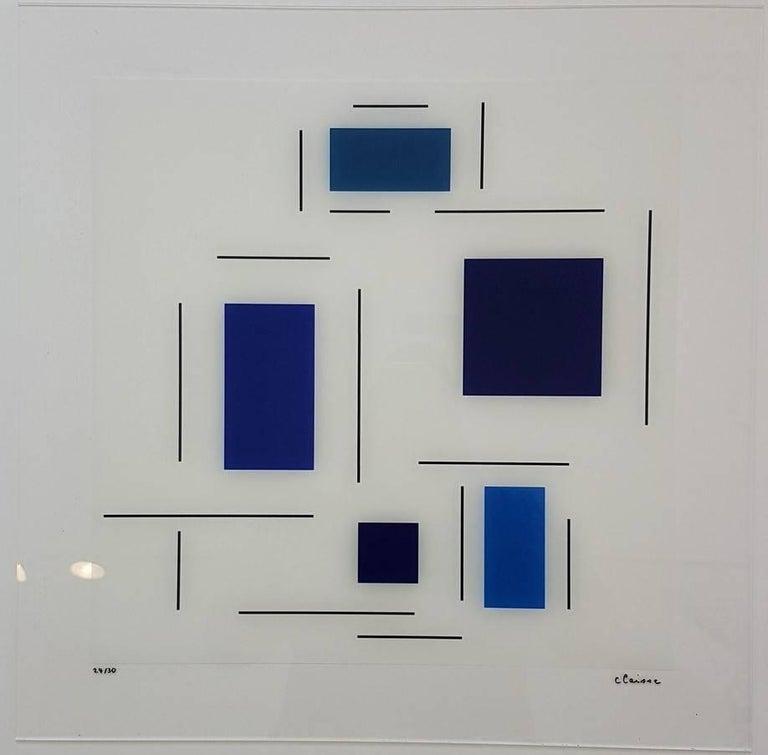 Untitled (Blue) - Sculpture by Geneviève Claisse