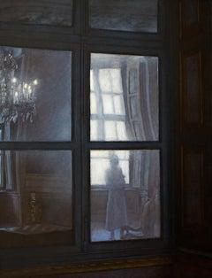 Délicieusement fantomatique - Interior scene - Oil - 21st Century