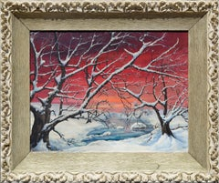 Winter Sunrise Landscape by Genevieve Clibborn