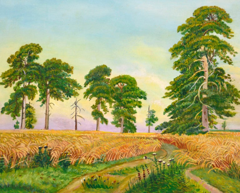 Fields of Wheat Landscape  - Painting by Genevieve Rogers