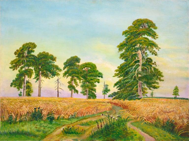 Genevieve Rogers  Landscape Painting - Fields of Wheat Landscape