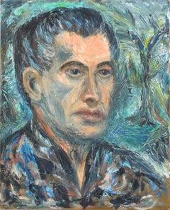 Portrait of a Dark Haired Man