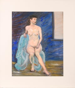 Nude Woman in a Blue Chair