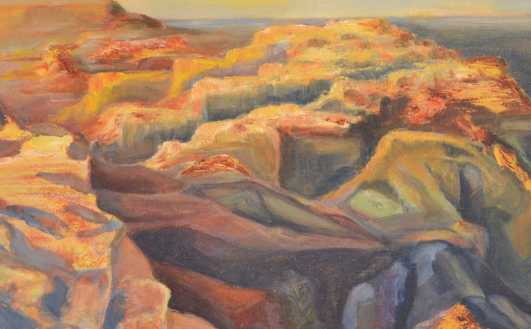 Over the Canyons, 1969 - Painting by Genevieve Rogers