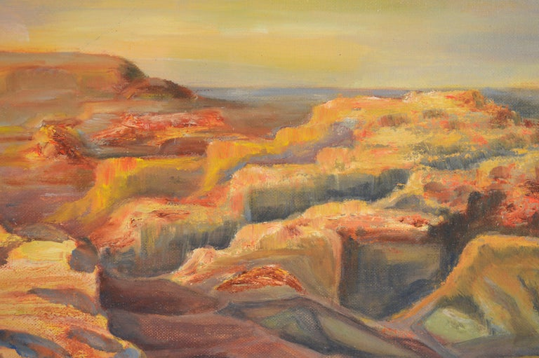 Over the Canyons, 1969 - American Impressionist Painting by Genevieve Rogers