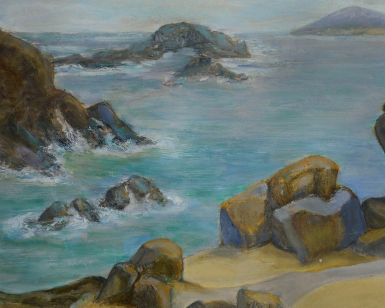 Seaside View, American Impressionist - Painting by Genevieve Rogers
