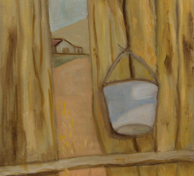 The Other Side of the Fence - Painting by Genevieve Rogers