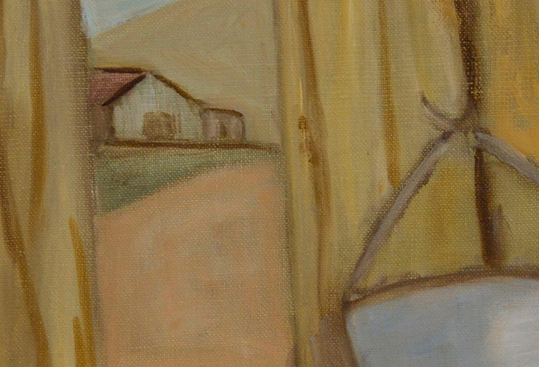 The Other Side of the Fence - American Impressionist Painting by Genevieve Rogers
