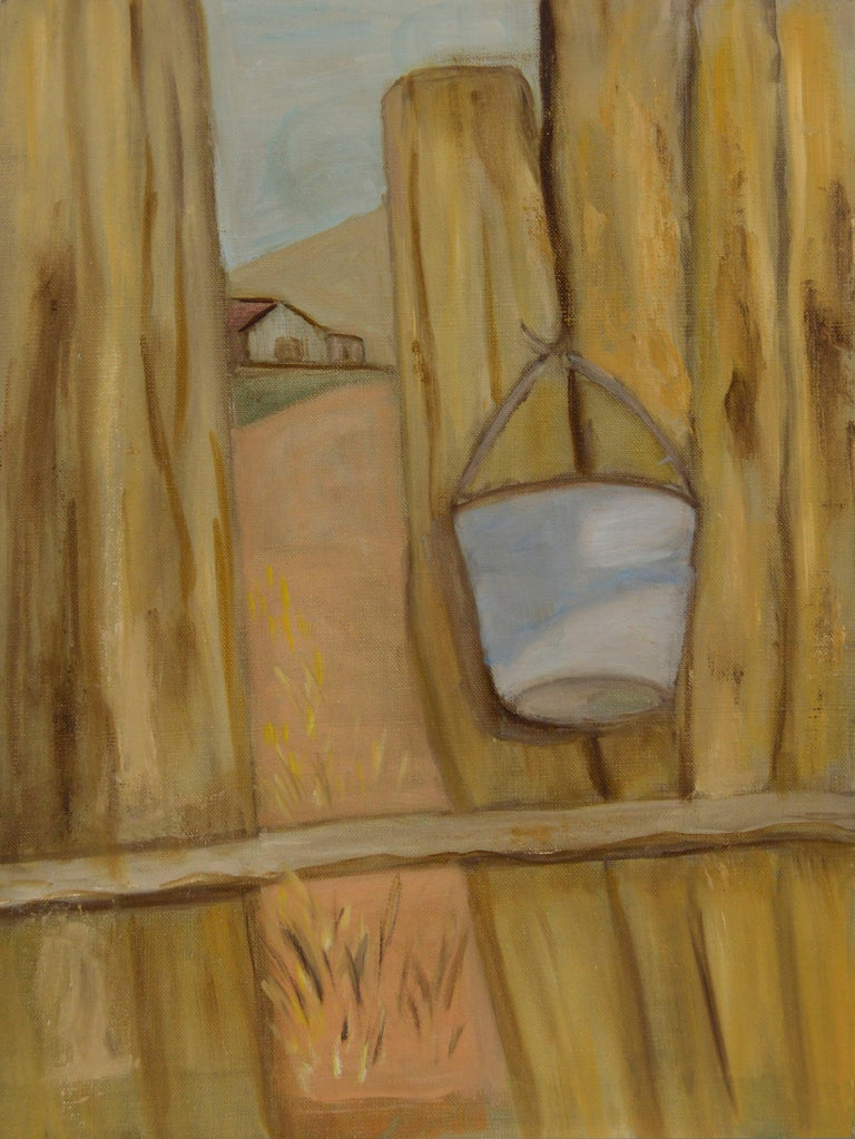 Genevieve Rogers Landscape Painting - The Other Side of the Fence