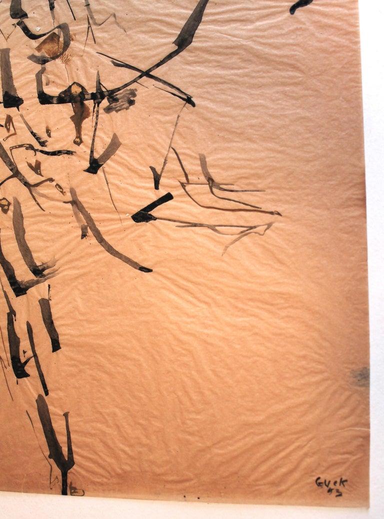 Hand-Painted Genichiro Inokuma 'Japanese 1902-1993' Original Ink Drawing For Sale