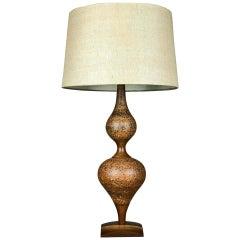 Genie Table Lamp of Ceramic and Walnut