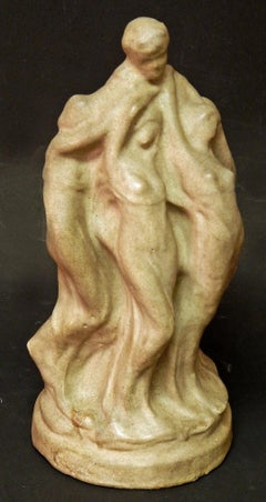 """Genius and His Muses,"" Art Nouveau Masterpiece Sculpture by Frank Applegate"
