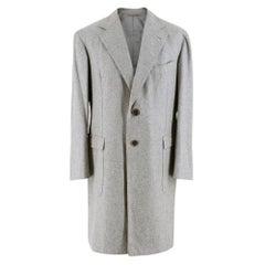 Gennano Solito Fine Cashmere Grey CoatXL