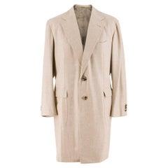 Gennaro Solito Bespoke Cashmere Single Breasted Coat estimated size L